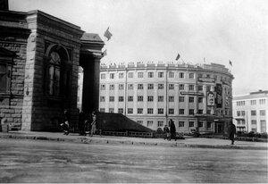 Челябинск. Здание гостиницы № 1 на площади Революции. 1935