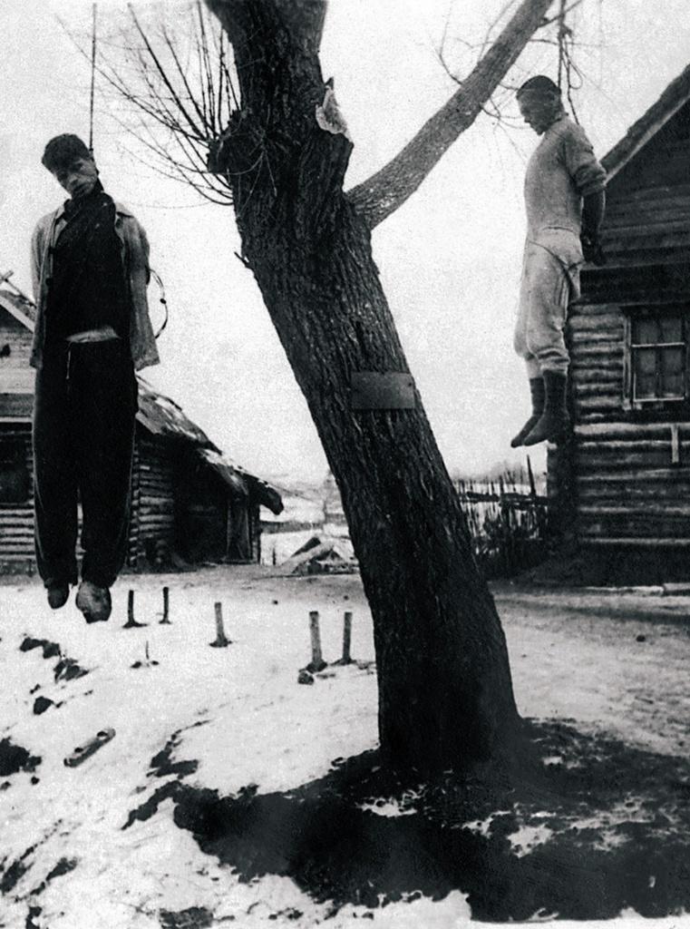 1942. Виселицы на оккупированной советской территории