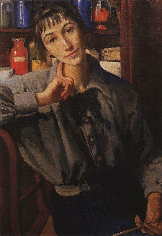 Автопортрет с кистью 1924