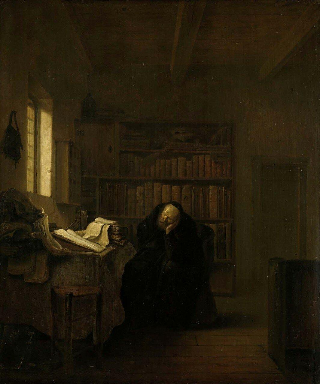 1656_Ученый в своем кабинете (A Scholar in his Study)_41 х 34.5_д.,м._Амстердам, Рейксмузеум.jpg