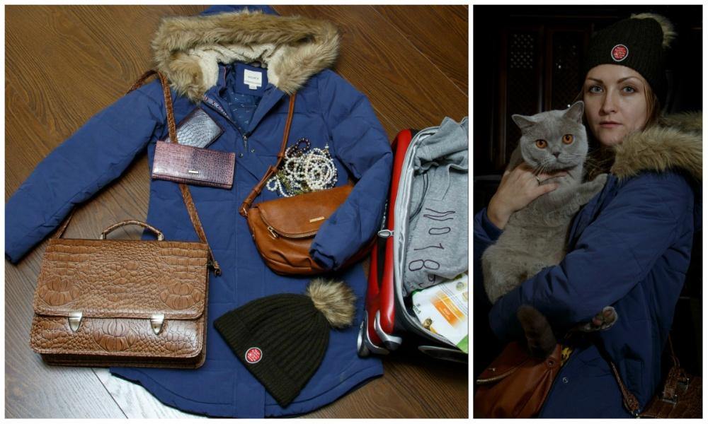 © Ekaterina Sahakyan  Кот, кошелек, паспорт, украшения, корм для кота, сменная одежда, чемодан