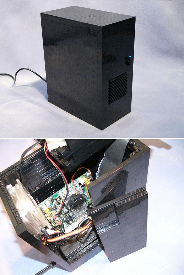 Его можно использовать для создания корпуса для стационарного компьютера. Такого точно ни у кого из