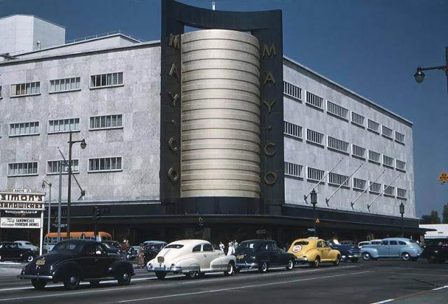 Перекресток бульвара Уилшир и Фэрфакс-авеню, 1941 год.