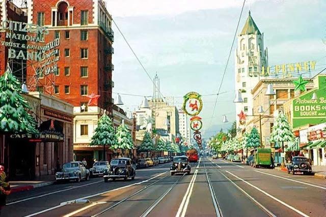 Голливудский бульвар, 1941 год.