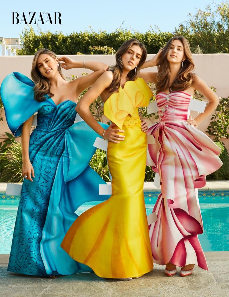 Сёстры Сталлоне на обложке Harper's Bazaar