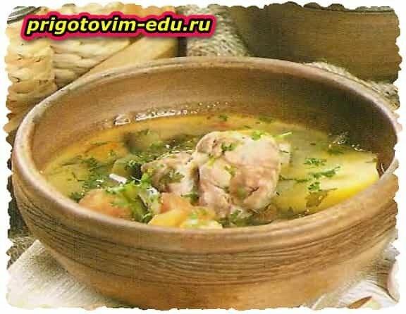 Густой суп из Баранины в горшочках