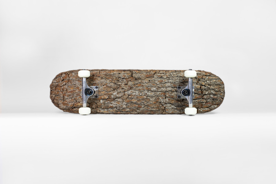 Tree Bark Skateboard by 'Mr. Plant'