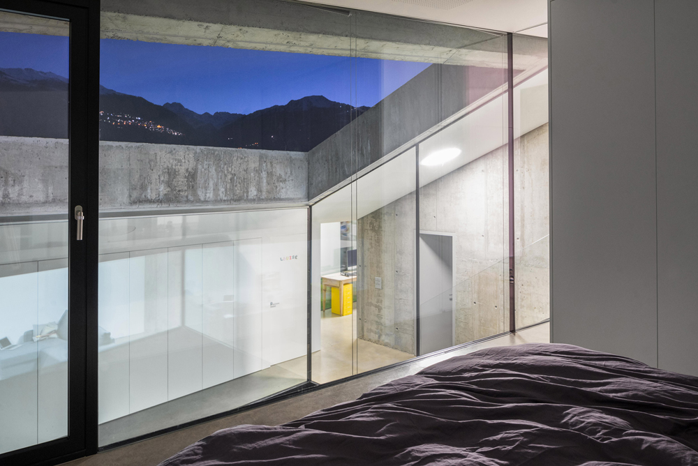Beautiful Fortress-Like Concrete House in Switzerland