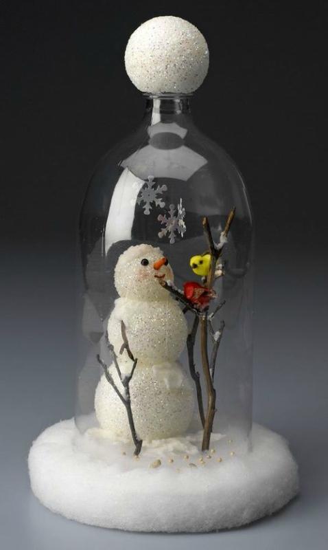 Новогодние идеи из бутылок