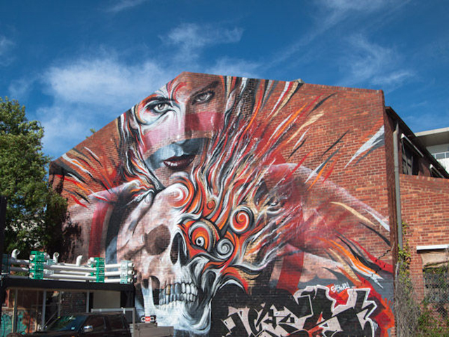 Beautiful street art by RONE