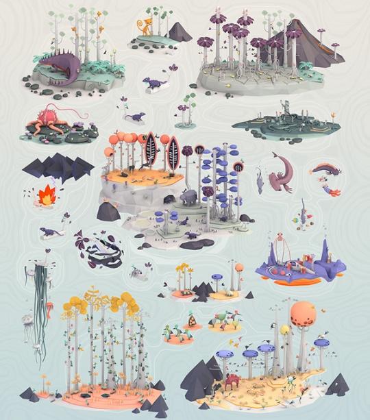 Original Low Polygon Illustrations by Erwin Kho