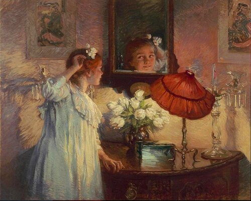 Albert Chevallier Tayler - The Mirror, 1914.jpg