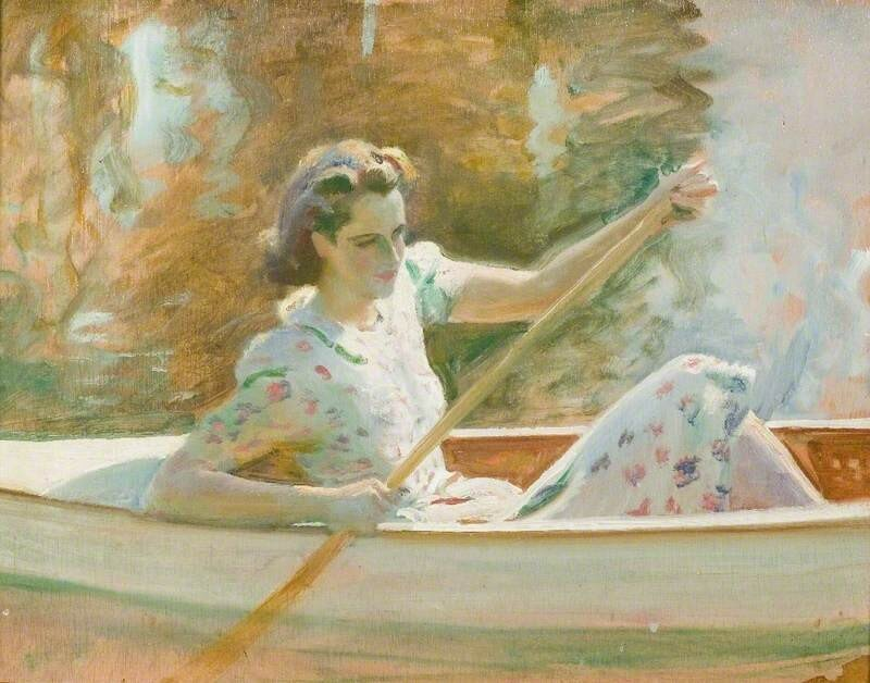 Study for 'The White Canoe'