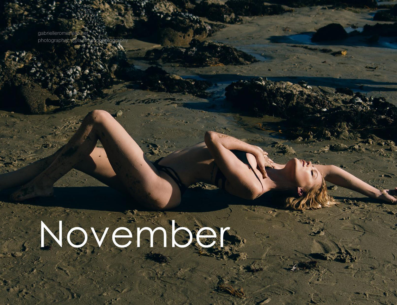 календарь модели Габриэллы Романелло / Gabrielle Romanello calendar 2017