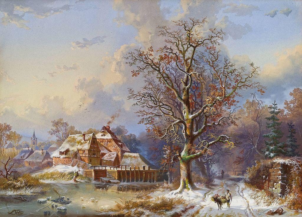 Village in Winter.
