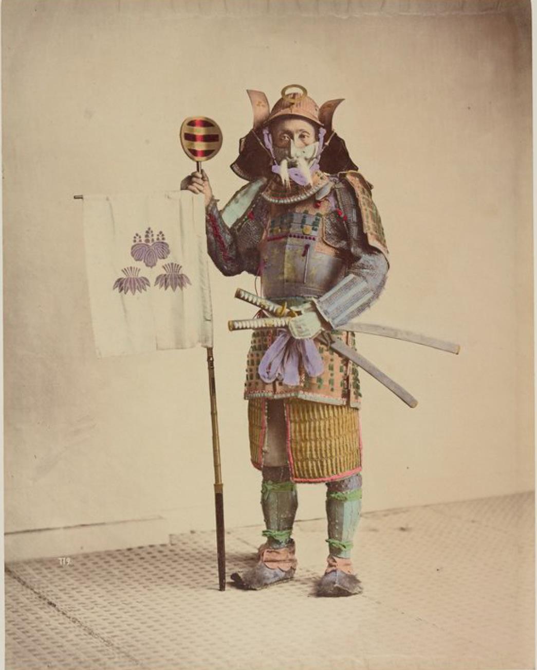Воин в традиционной брони