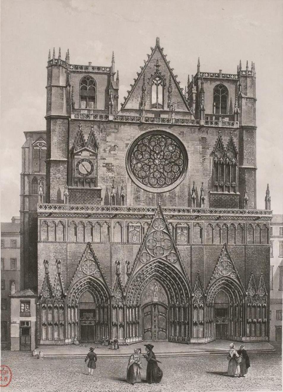 Франция. Лион. Собор Сен-Жан или Собор Иоанна Крестителя