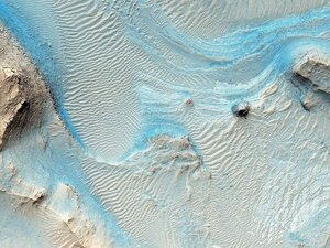 Марсианская область Nili Fossae. Image credit: NASA/JPL-Caltech/Univ. of Arizona