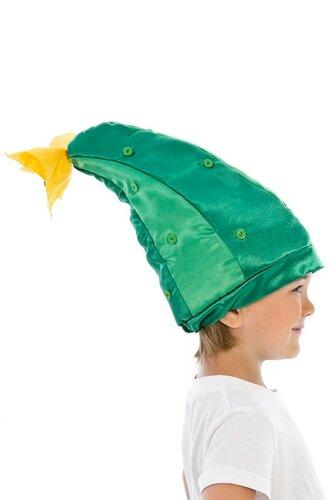 Детский карнавальный костюм Шапочка Огурец