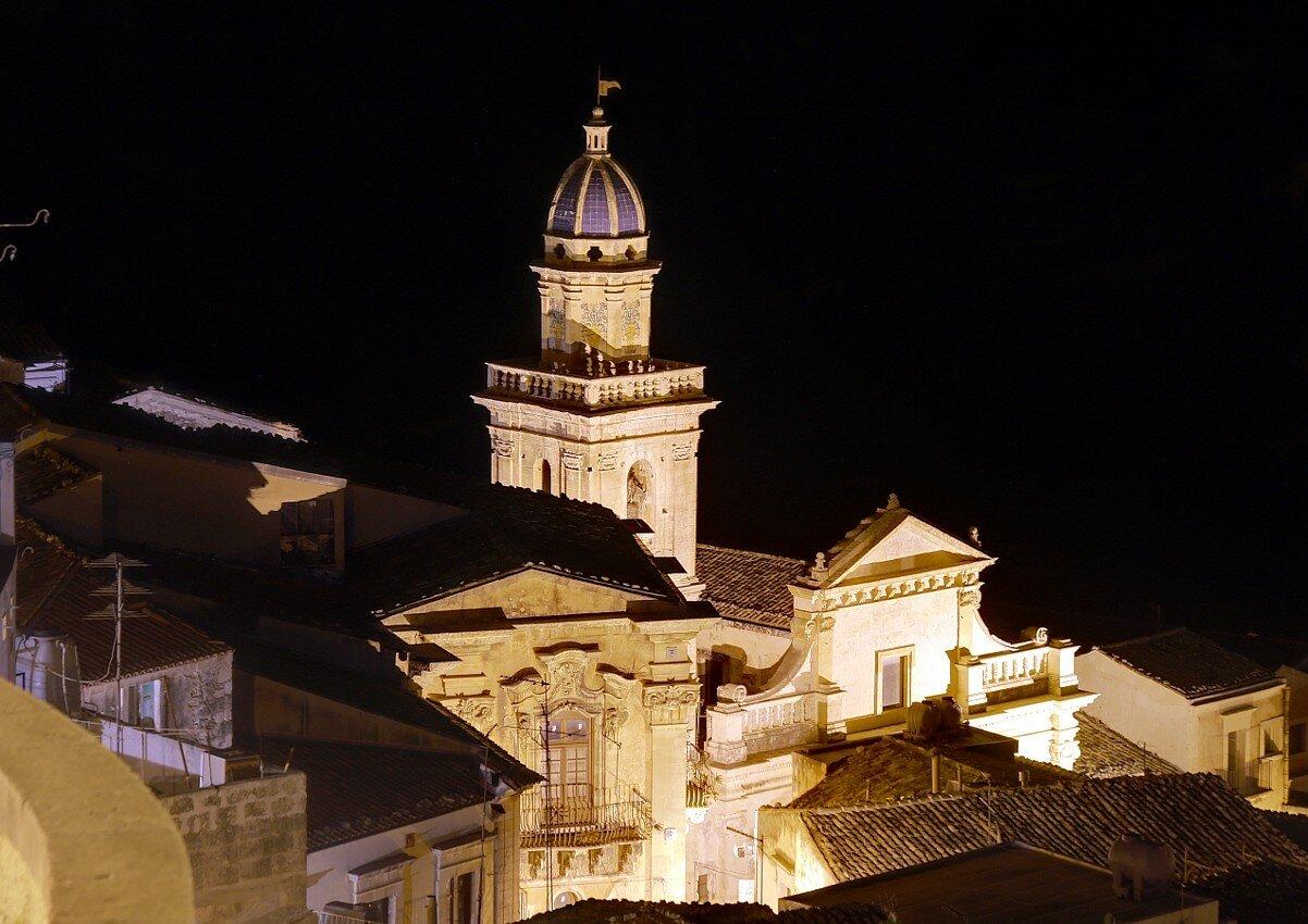 Ночная Рагуза. Церковь Богоматери Одигитрии (Chiesa di Santa Maria dell'Itria)
