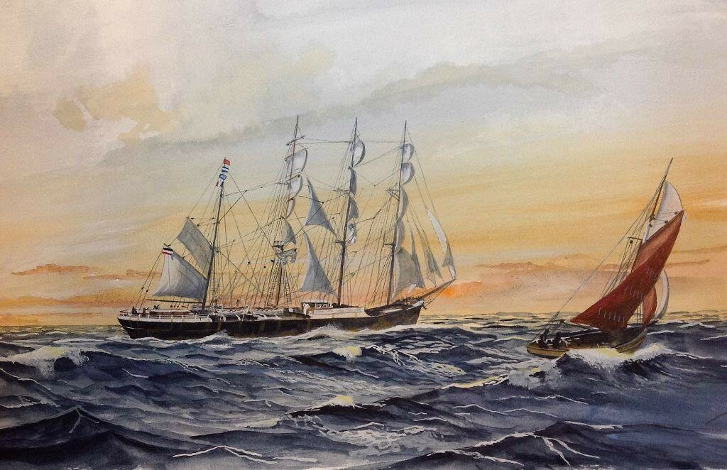 One of the Flying 'P' four masted Barques , not sure which one but she's flying PISAGUA's codes.