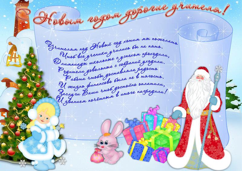 Новогодняя поздравительная открытка сценарий