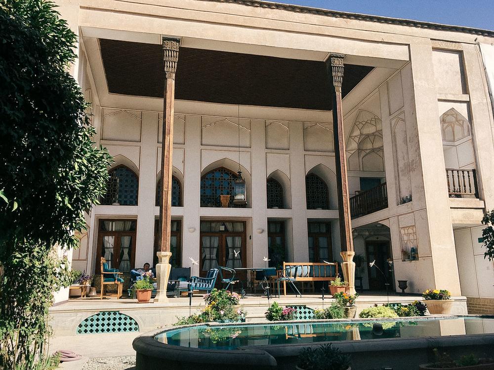 Исторический дом Бехради в Исфахане. «Этот частный дом XVII века был построен в эпоху Сефевидов и не
