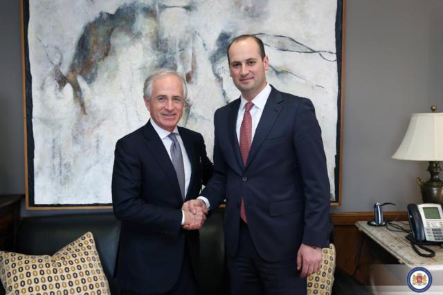 Министр иностранных дел Грузии встретился сгоссекретарем США Рексом Тиллерсоном