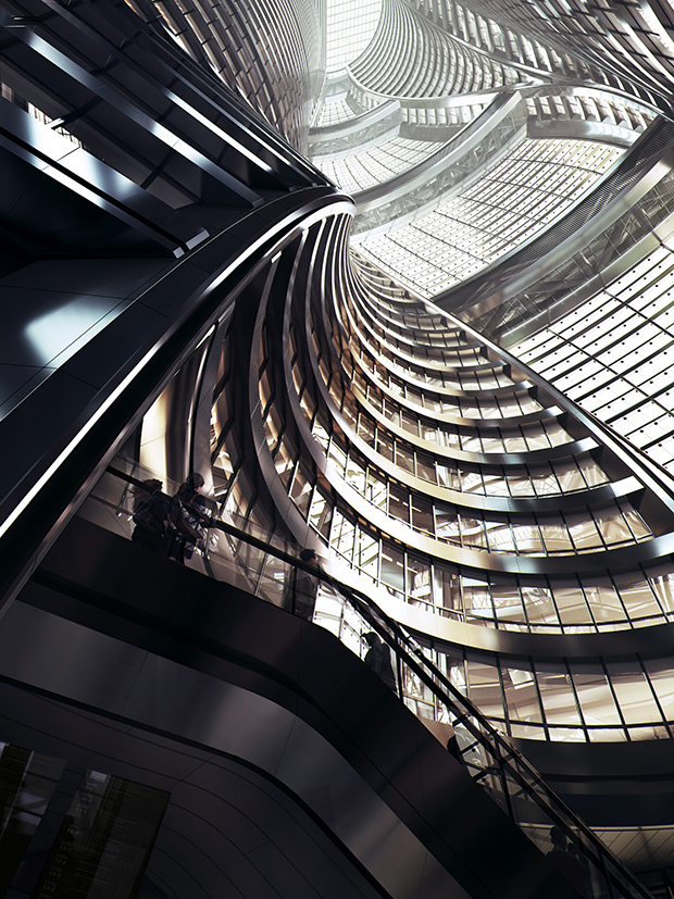 Leeza SOHO Tower by Zaha Hadid Architects (4 pics)
