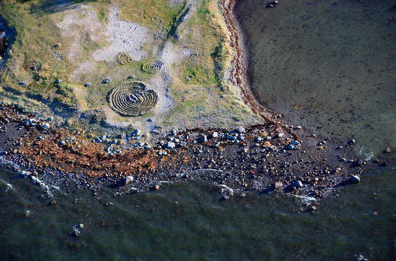 Лабиринт на Большом Соловецком острове. Белое море, Архангельская область