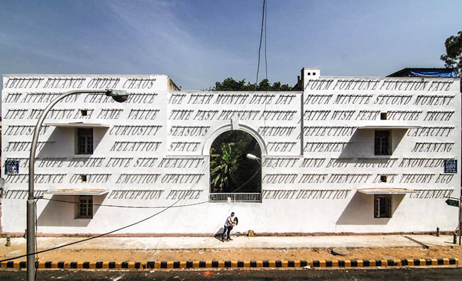 Creative and Smart Typographic Sundial in India