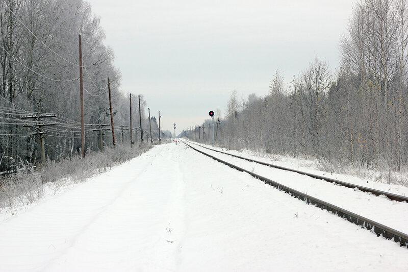 Станция Рождествено, вид на Ржев