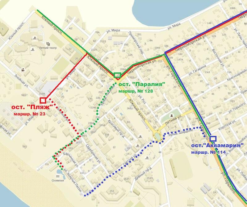 Аквапарк Витязево на карте
