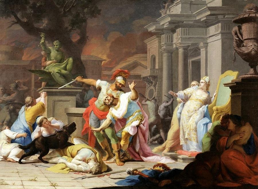 Смерть Приама. 1756. Краков, Вавель Королевский замок.