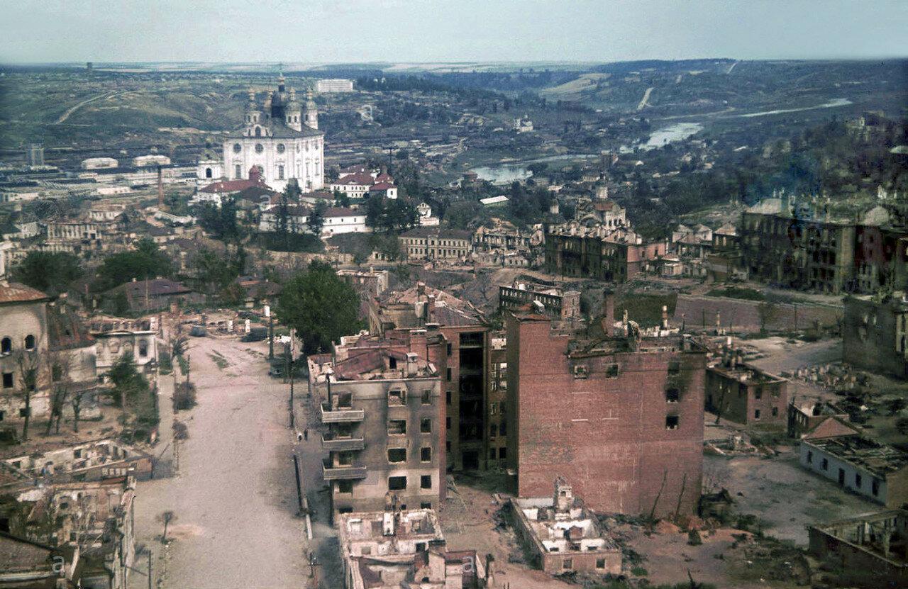 1941. Вид центра и северо-востока города с воздуха