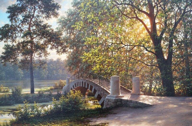 Пейзаж с мостиком ...