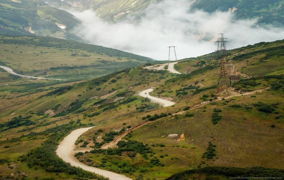 3. Вулкан Горелый располагается в обширной кальдере размером 10 х 13 км.