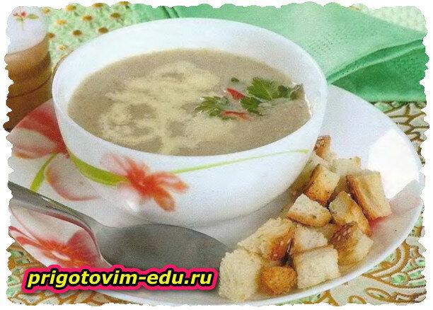 Грибной суп-пюре в СВЧ-печи