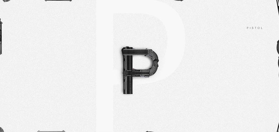 Alphabet Letters Created with Objects