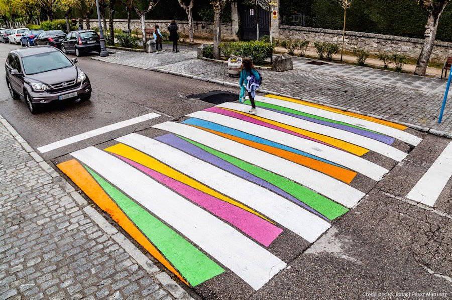 Madrid's Crosswalks Turned into Colorful Artworks (6 pics)