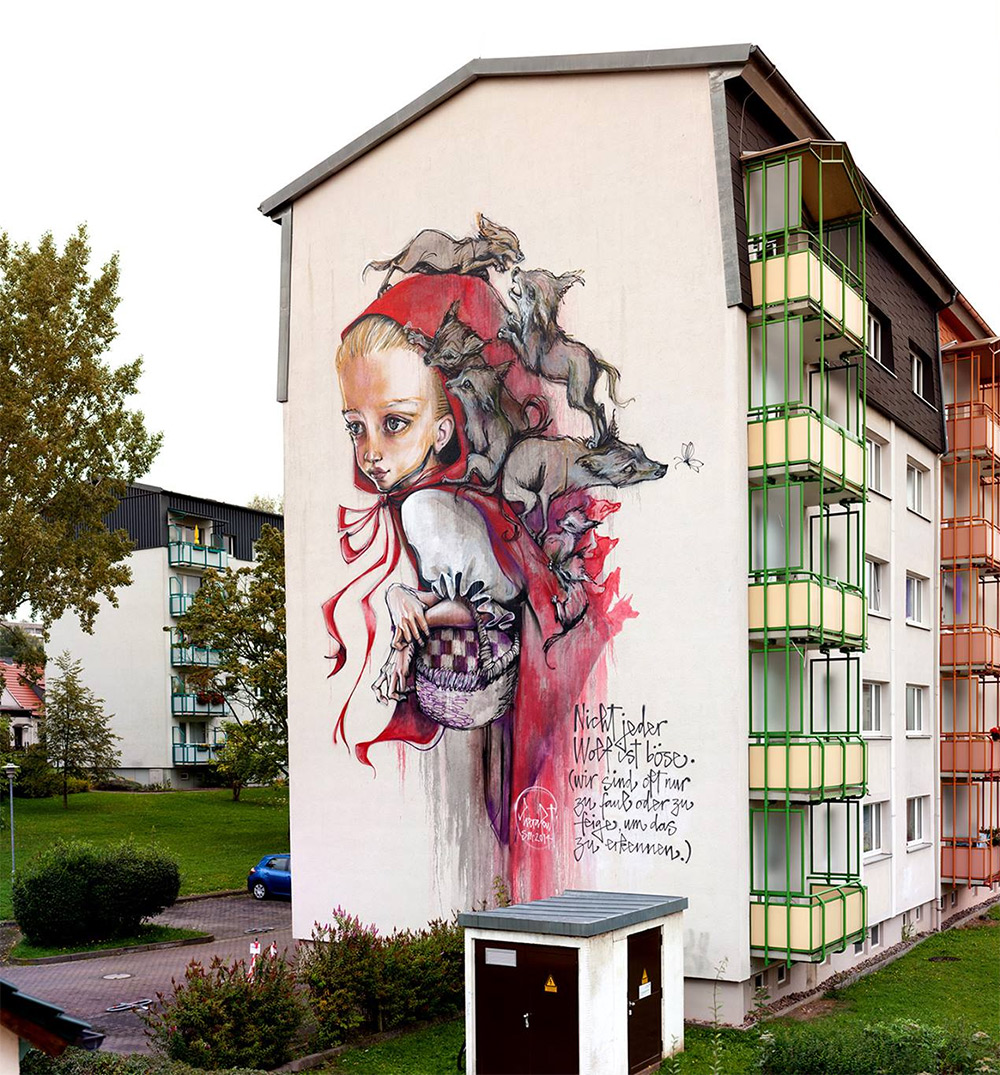 Walls and Canvases Rich with Narrative by Artist Duo Herakut