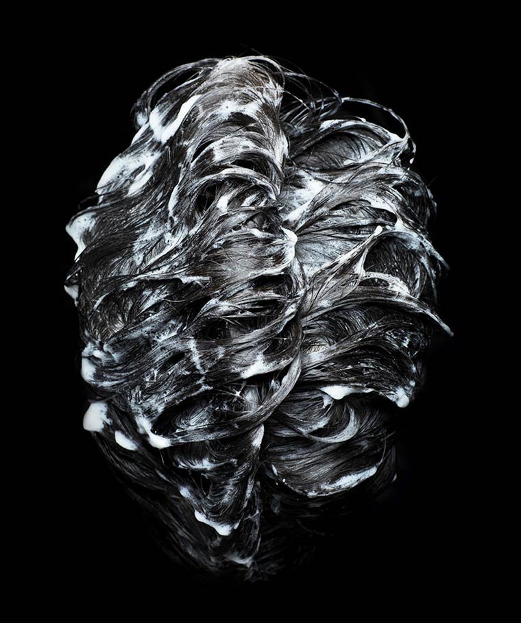 Shampooed Heads - The hair transformed into abstract photographs