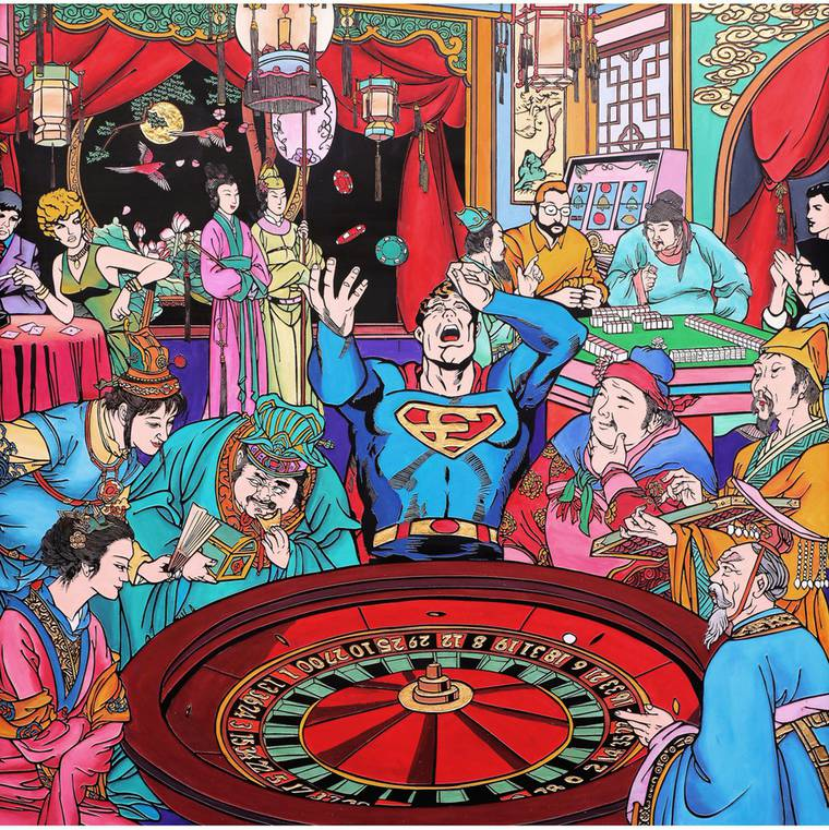 When superheroes land in traditional Chinese prints