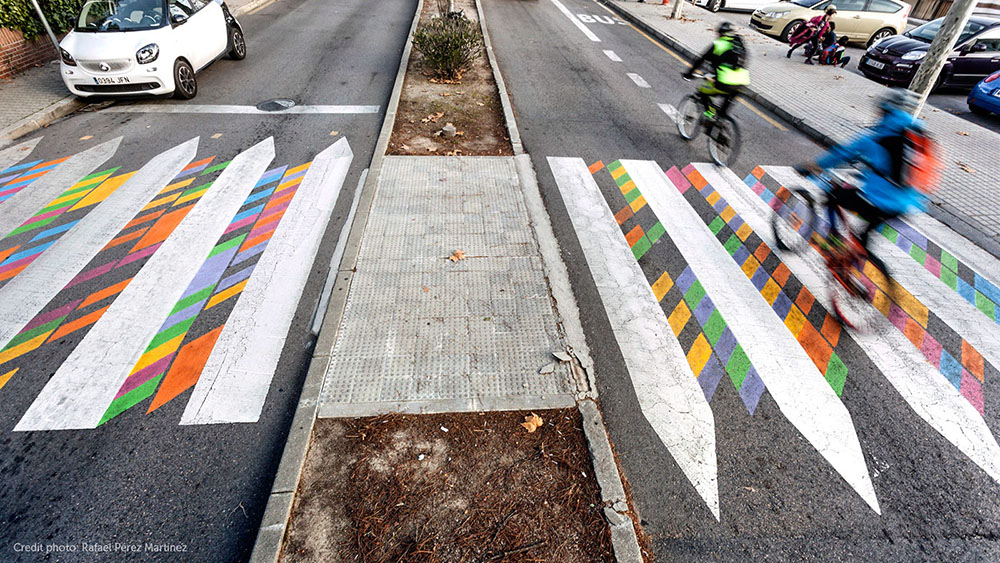 Artist Christo Guelov Creates Dozens of Colorfully Alternative Pedestrian Crossings in Madrid