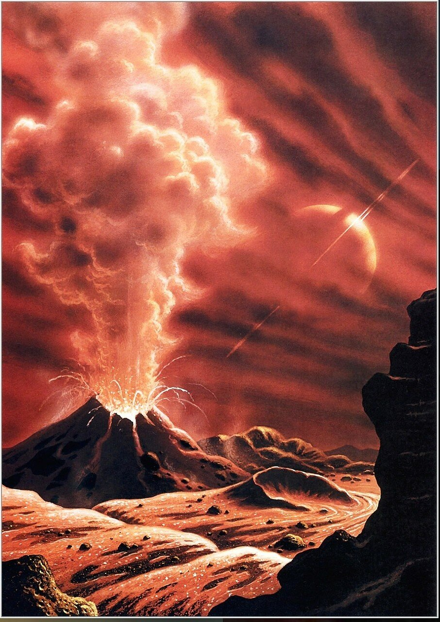Водородный вулкан на Титане. Художник Д. Харди..jpg