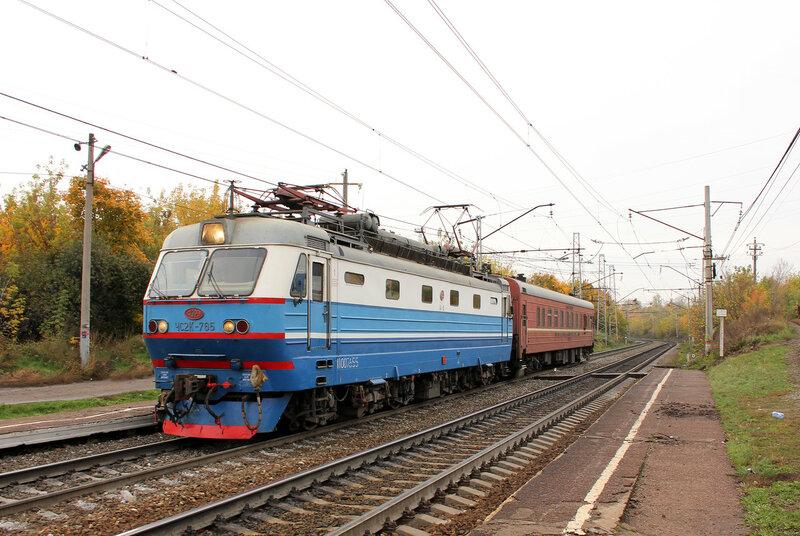 ЧС2К-765 на перегоне Уфа - Черниковка, платформа 1629 км