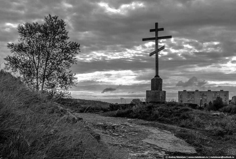 деревянный крест на исети