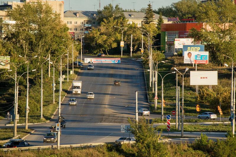улица Алюминиевая 2016 год подъем в гору