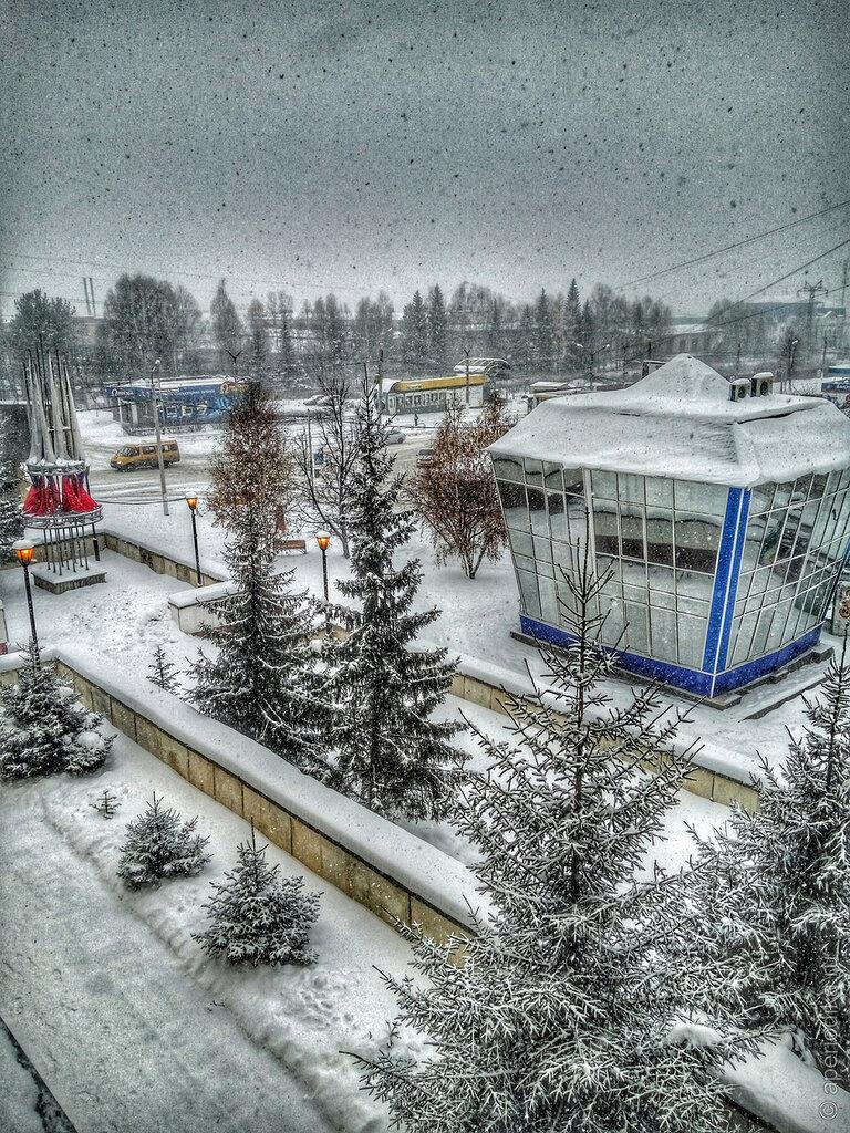 Снег с дождем в Златоусте