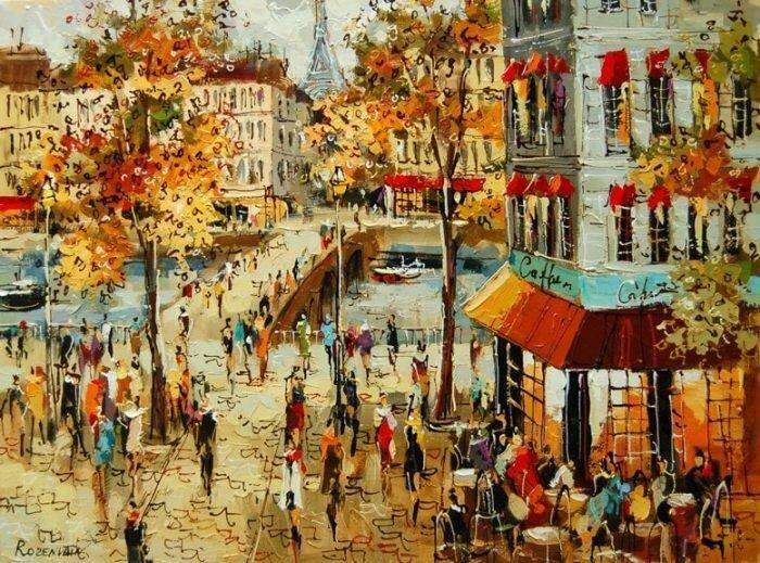 Очарование Парижа   художник Михаэль Розенван